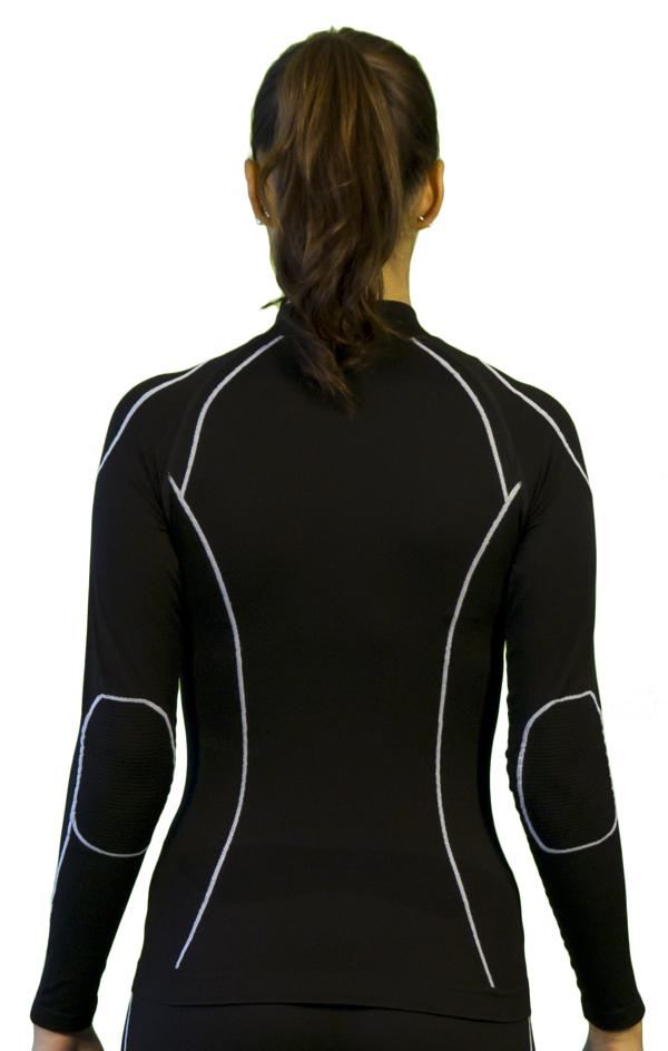 Mock Long Sleeve Women Warm Skin Black Mico