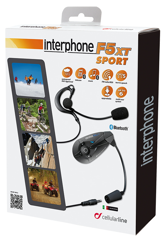 Intercom Bluetooth Cellular single line F5XT Sports
