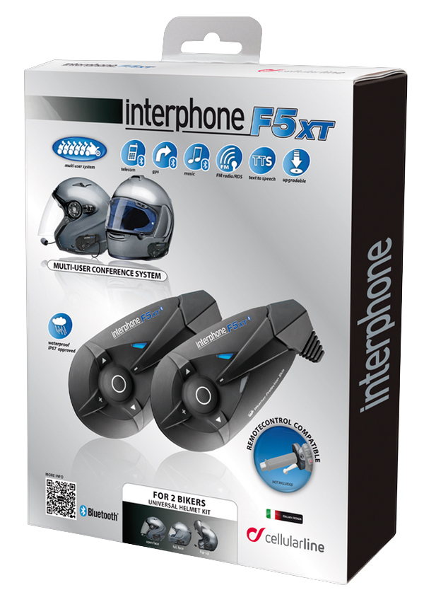 Cellular Line F5XT interphone twin pack