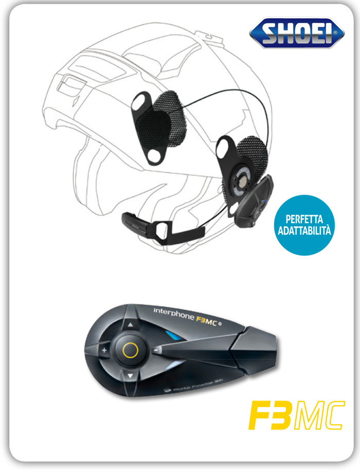 Cellular Line F3MC + Pro Sound Shoei Bluetooth interphone