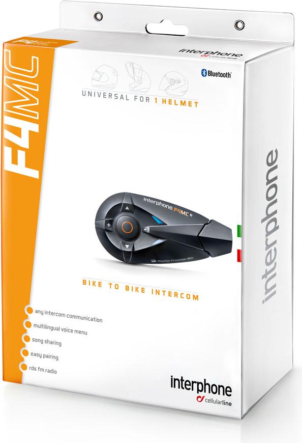 Cellular Line F4MC bluetooth intercom one helmet