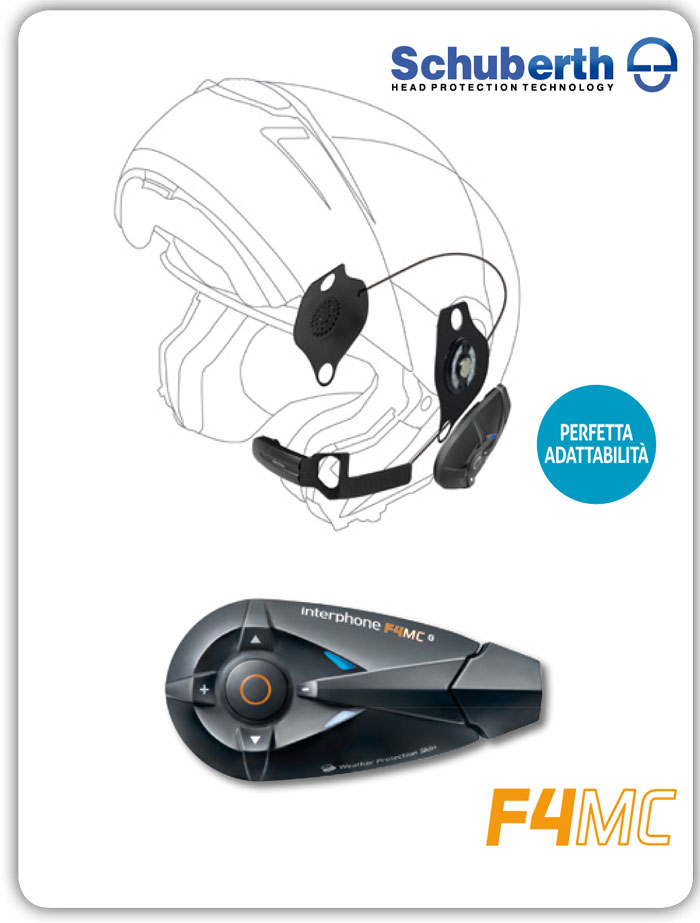 Interfono Bluetooth Cellular Line F4MC + Pro Sound per Schuberth