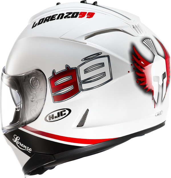 Full face helmet HJC IS17 Lorenzo 99 MC10