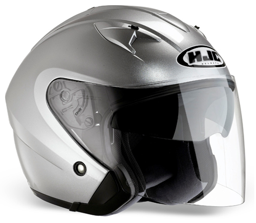 Casco moto jet HJC IS33 Argento