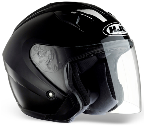 Casco moto jet HJC IS33 Nero Lucido