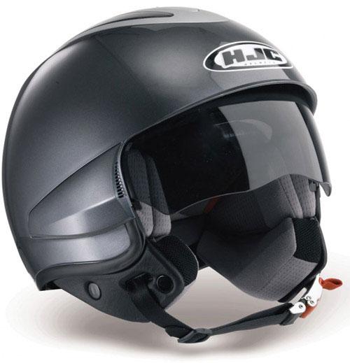 Casco moto jet HJC IS35 Rubber Black