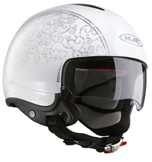 Casco moto jet HJC IS35 Flower Hologram