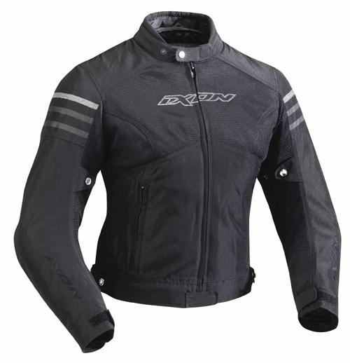 Giubbotto moto Ixon Electra tutte le stagioni nero-argento