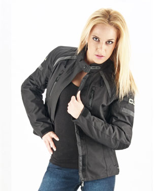 OJ Unstoppable Lady motorcycle jacket 4 seasons  black