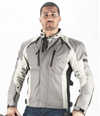 Oj Unstoppable motorcycle jacket 4 seasons grey