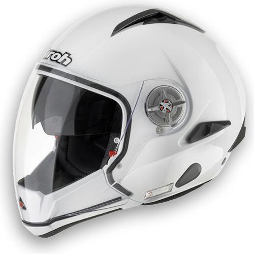 Casco moto Airoh J-105 Color mentoniera staccabile bianco lucido