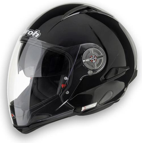 Casco moto Airoh J-105 Sport mentoniera staccabile nero stampo
