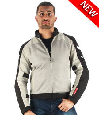 OJ Skill motorcycle jacket duouble layer grey