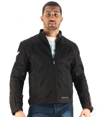 OJ Skill motorcycle jacket duouble layer black