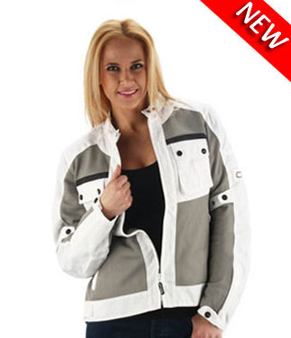 OJ Aircity Lady motorcycle jacket double layer grey-white