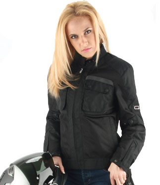 OJ Aircity Lady motorcycle jacket double layer black