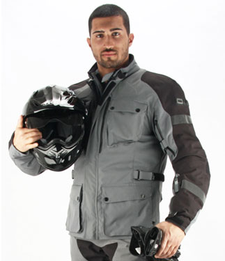 OJ Navigator motorcycle jacket triple layer grey-black