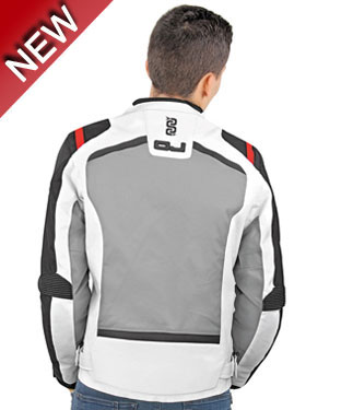 Oj Shot jacket black white red