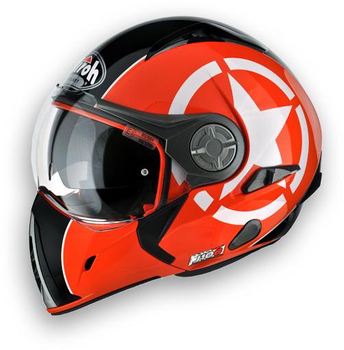 Airoh J-106 Shot modular helmet orange