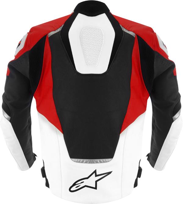 Alpinestars Jaws leather jacket black-white-red