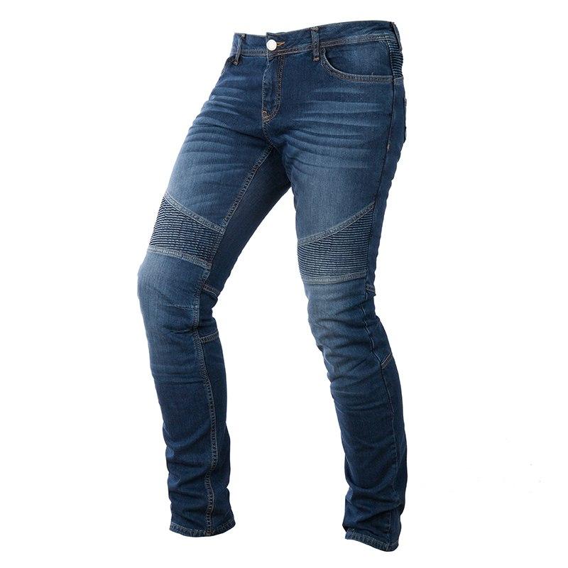 Jeans moto donna Overlap Imola Smalt con Kevlar