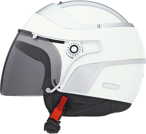 Casco moto Caberg Jet Uno bianco perla