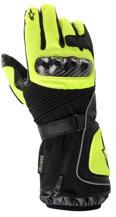 Alpinestars Jet road Gore-Tex gloves black-yellow fluo