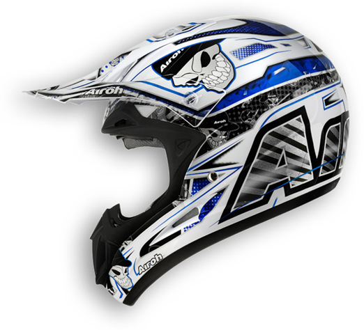 Off road motorcycle helmet Airoh Jumper Mister X shiny blue
