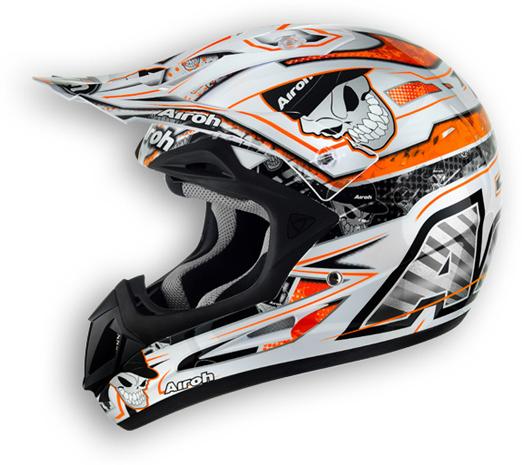 Off road motorcycle helmet Airoh Jumper Mister X glossy orange