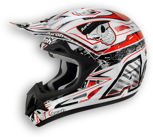 Off road motorcycle helmet Airoh Jumper Mister X glossy red