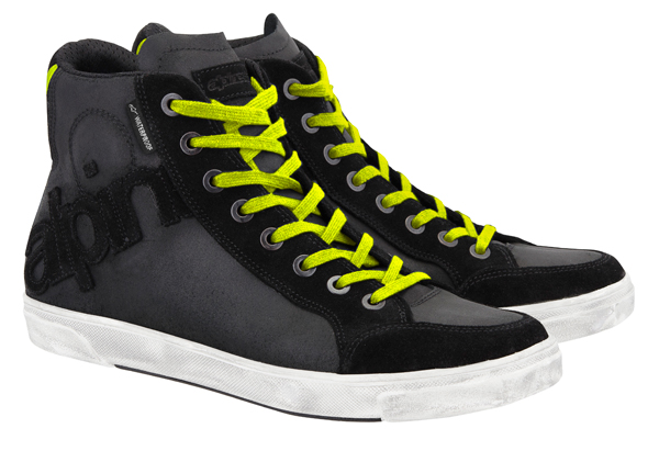 Alpinestars Joey Waterproof shoes black-yellow fluo