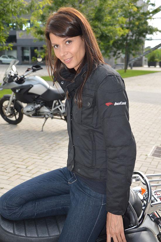 Giubbotto moto donna Nice Befast Lady nero