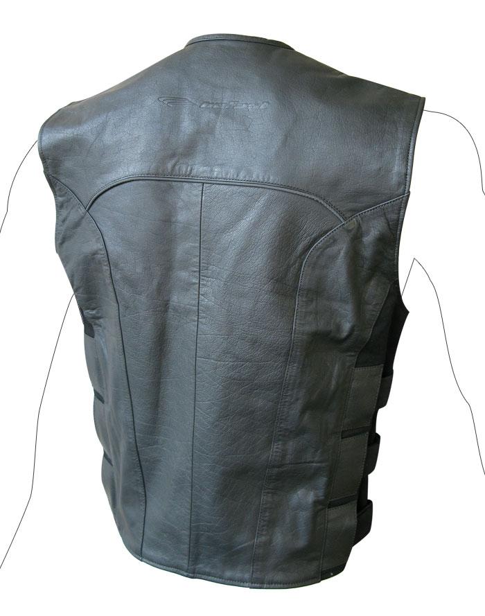 Custom leather vest Befast Teseo