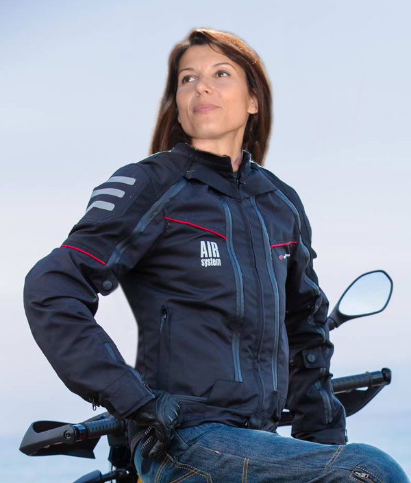 Giubbotto moto All Season Befast Lady con Air System 4 stagioni