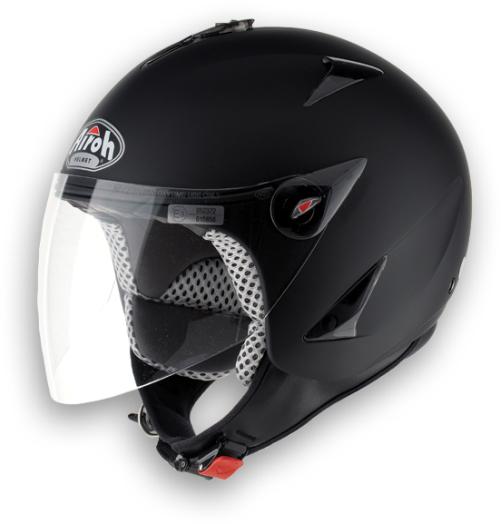 Casco moto Urban Jet Airoh JT Color nero opaco