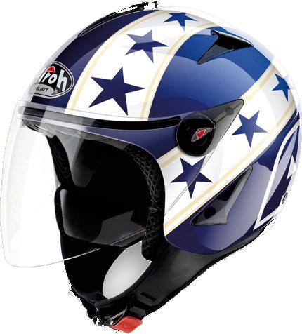 Airoh JT General urban jet helmet blue gloss