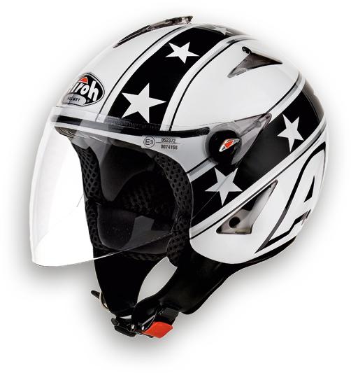 Casco moto Urban Jet Airoh JT General bianco lucido
