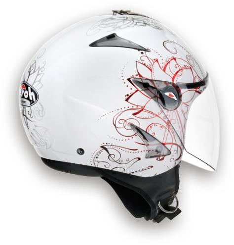Airoh JT Spring urban jet helmet white gloss