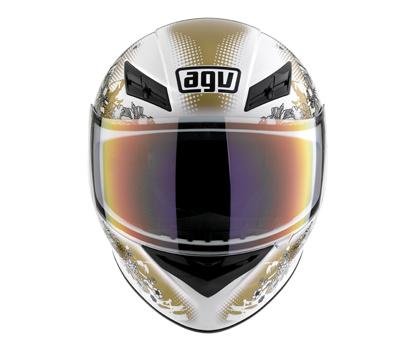 AGV K-3 Multi Fleurs Full Face Helmet - Col. White/Gold