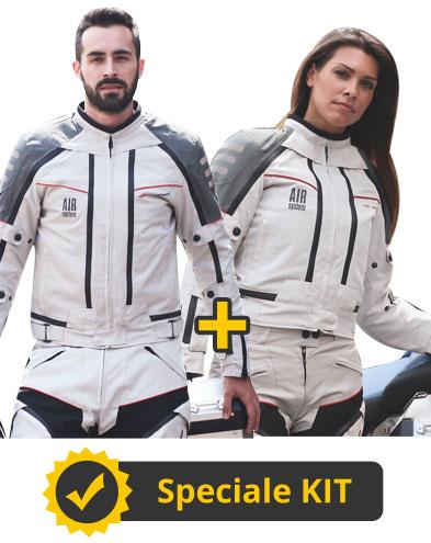 Kit All Season Light - Giubbotto moto uomo + Giubbotto moto donna - All Season Befast con Air System 4 Stagioni