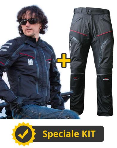 Kit All Season Full - Giubbotto moto 4 stagioni Befast All Season + Pantaloni moto Multiforce Befast con Air System