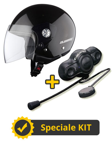 Kit City Talk - Casco jet Midway + Interfono FBeat