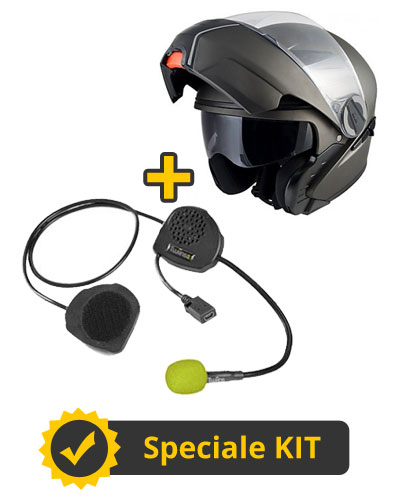Kit D3 - Casco modulare Singapore + Interfono Twiins senza centralina