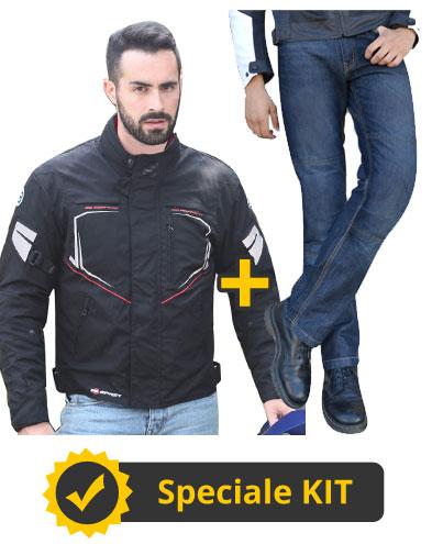 Kit DaniSix - Giacca 3 strati + Jeans con Kevlar