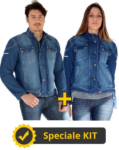 Kit James - Giacca estiva in jeans Befast James Uomo + Donna