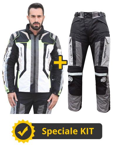 Kit Kavir 4s - Giacca + Pantaloni 3 strati - Nero Giallo fluo