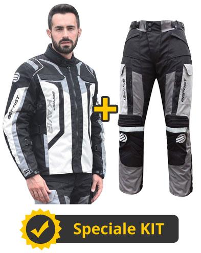 Kit Kavir 4s - Giacca + Pantaloni 3 strati - Nero Panna