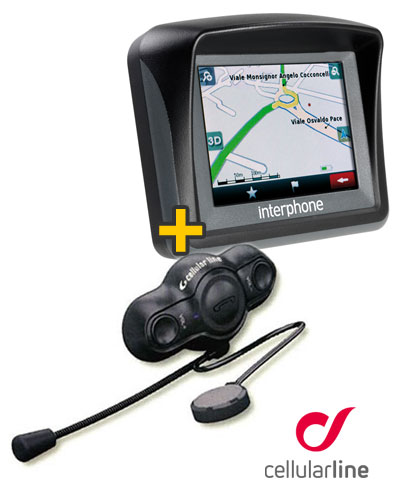 Kit Road - Interfono Bluetooth Singolo + Navigatore Italia Interphone Cellular LIne