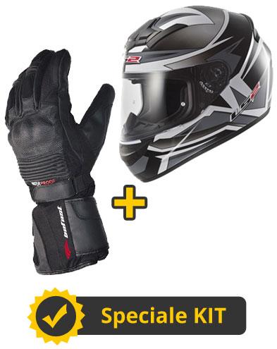 Kit Rookie400 - Guanti invernali Befast + Casco integrale FF352