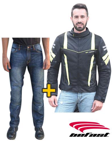 Kit Stars - Giacca estiva Orion + Jeans Nettuno con protezioni